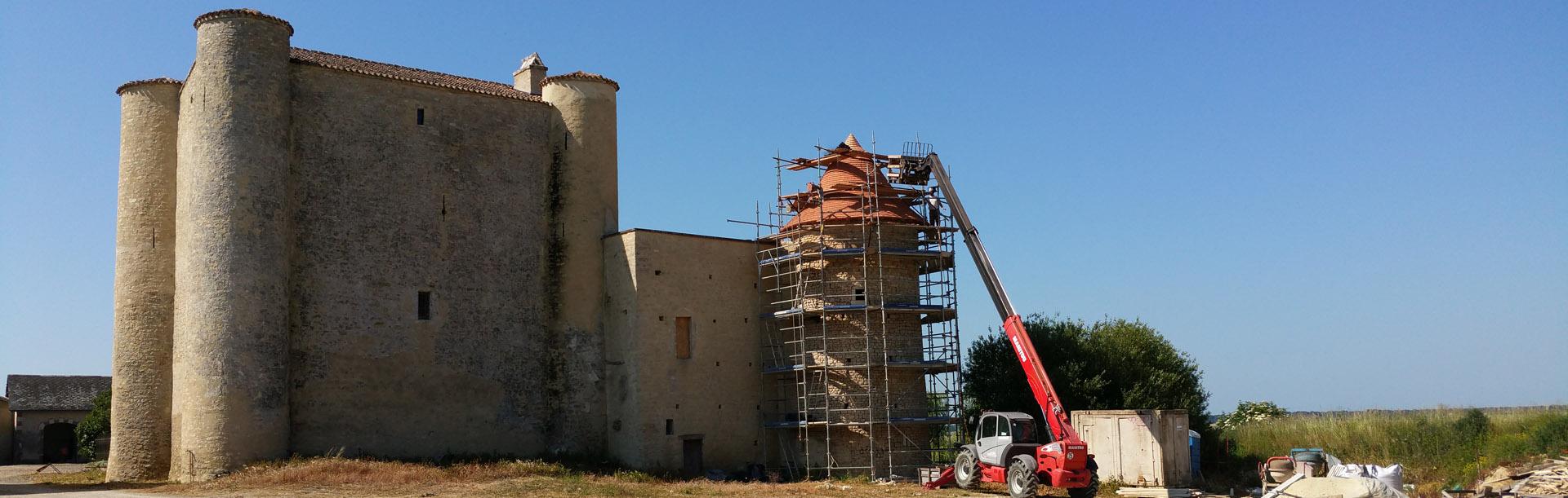 Réfection charpente et couverture ouest Vienne bandeau